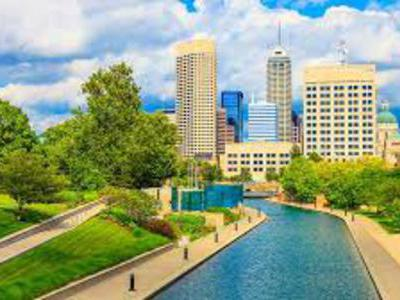 The Canal Walk in Indianapolis, Indiana