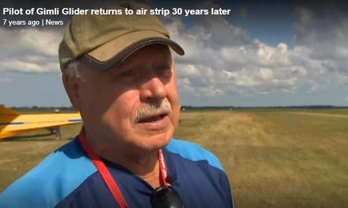 Pilot returns to strip 30 years latter