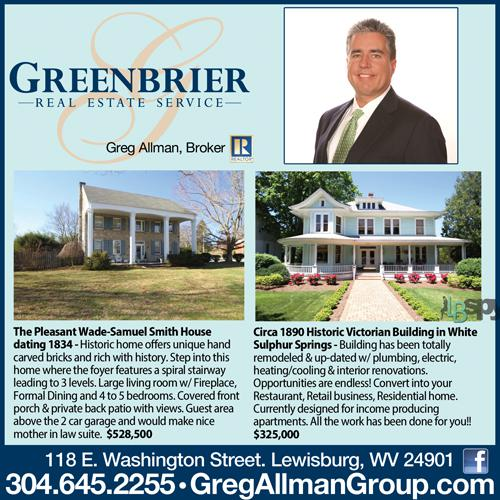 Homes for Sale in Lewisburg and White Sulphur Springs