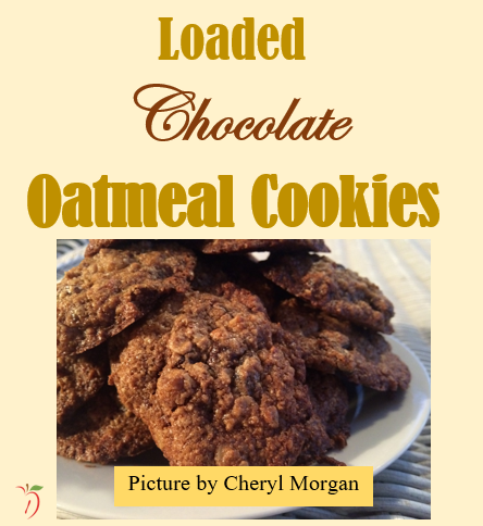Loaded Chocolate Oatmeal Cookies
