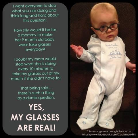 Yes, My Glasses Are Real!