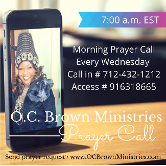 Wednesday Prayer Call with Chief Apostle Olive Brown
