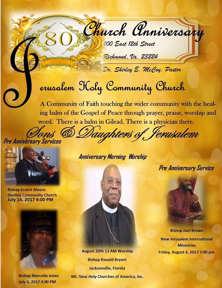 August 4th - Bishop Joel Brown - Speaker