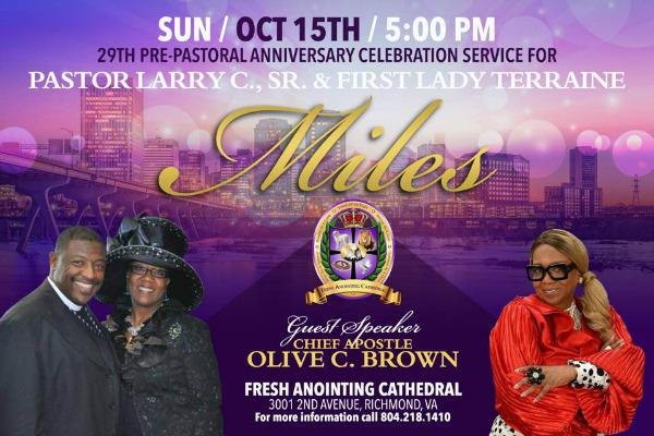 Join Chief Apostle Olive Brown