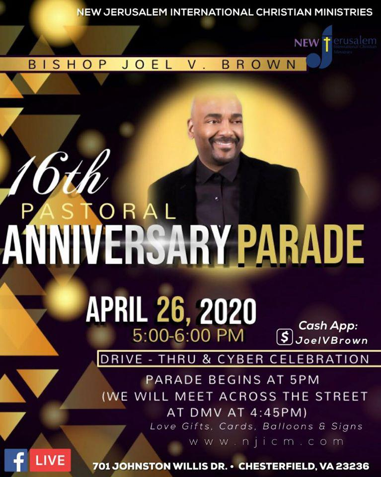 16th Pastoral Anniversary - Drive By Parade