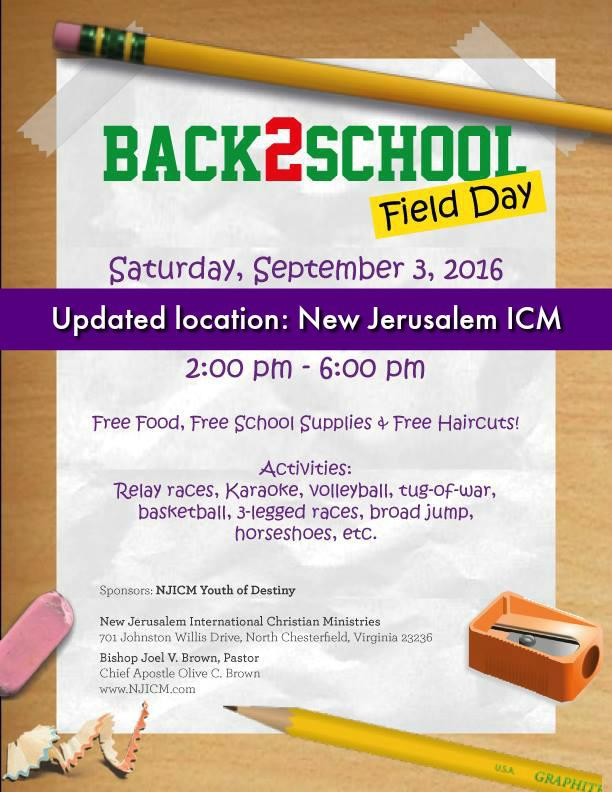Back 2 School Field Day