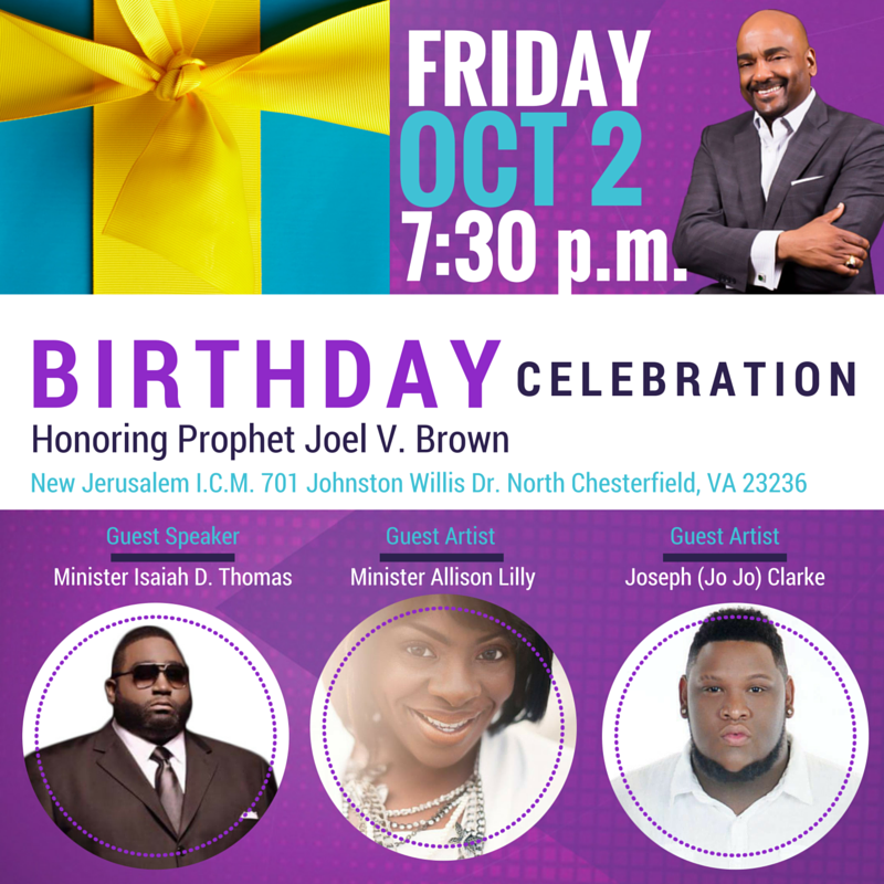 Birthday Celebration For Prophet Joel V. Brown