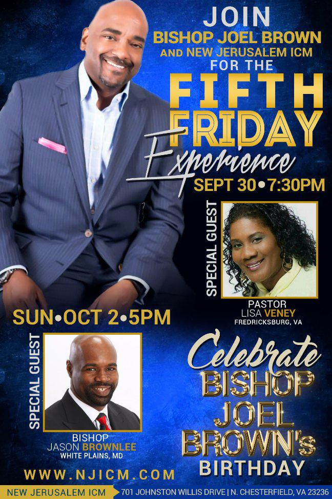 Birthday Celebration for Bishop Joel Brown!