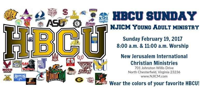 HBCU Sunday at NJICM