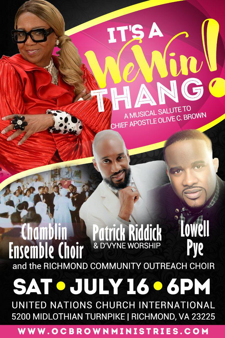 Musical Salute to Chief Apostle Olive Brown