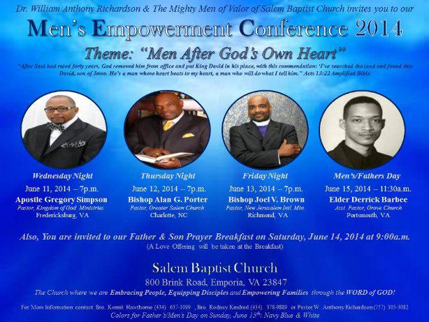 Prophet Joel V. Brown is a guest speaker for SBC Men's Empowerment Conference 2014!