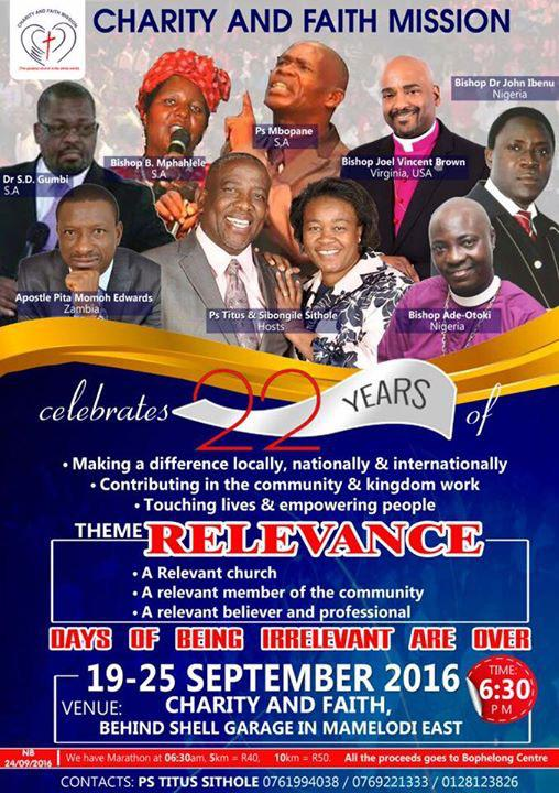 Johannesburg, South Africa Conference - Bishop Joel Brown [Speaker]