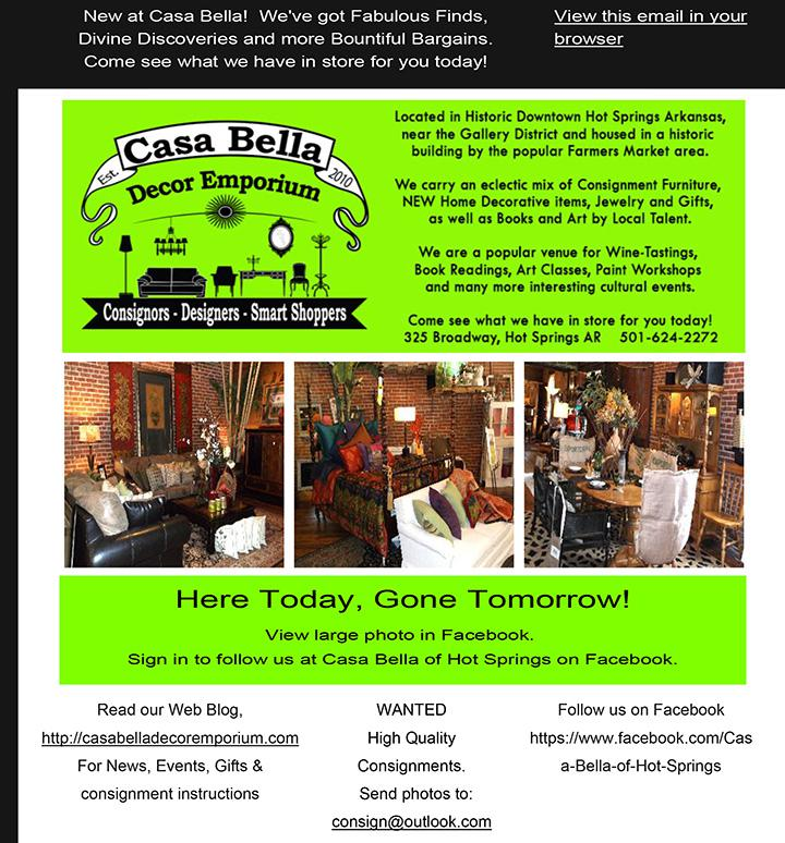 What's New at Casa Bella