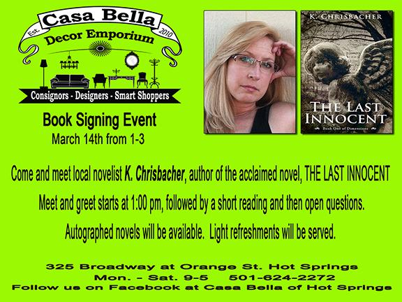 Book Signing with author, K. Chrisbacher