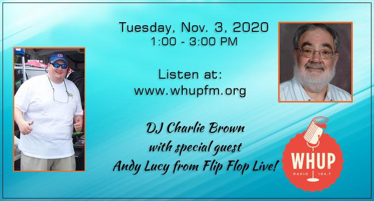 Andy Lucy on the air with Charlie Brown