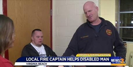 Firefighter Helps Beach Music celebrity