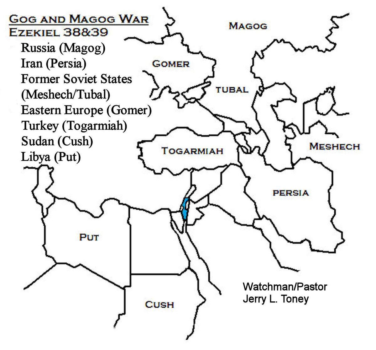 Map for the Magog War