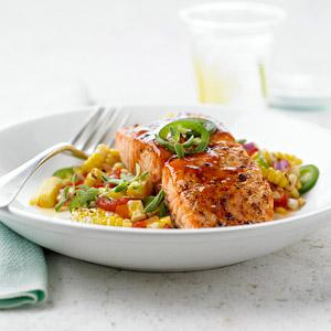 BBQ Salmon with Corn Relish Meal