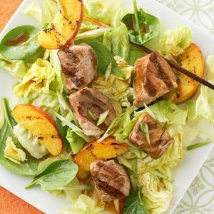 Grilled Pork & Peach Salad