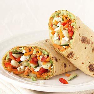 Veggie Crunch Wrap Healthy Meal