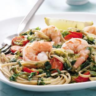 Linguine with Escarole & Shrimp Recipe