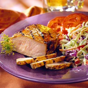 Glazed Pork Chop Dinner