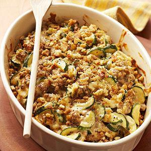 Zucchini Sausage Casserole Recipe