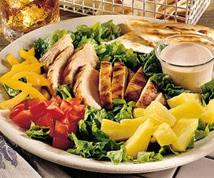 Grilled Chicken Salad with Salsa Dressing