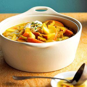 Curried Cider-Pork Stew Recipe