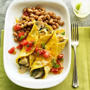 Mushroom & Poblano Enchiladas
