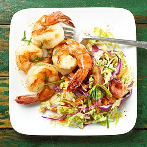 Shrimp with Warm Coleslaw Dinner