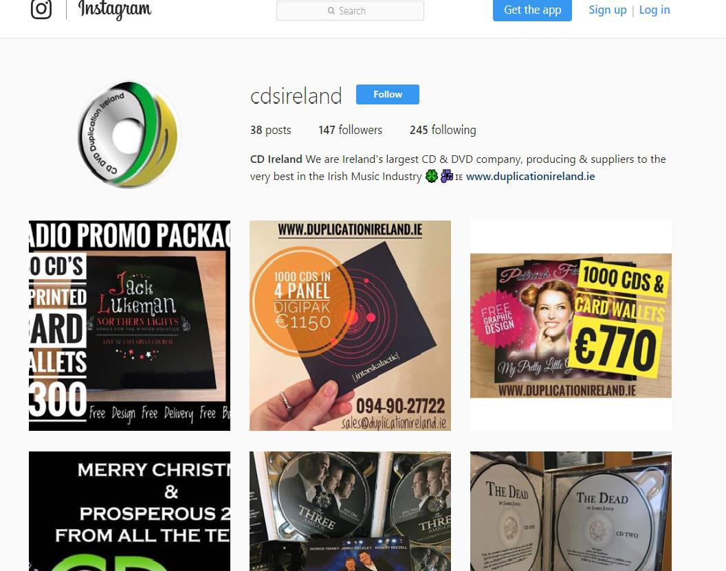 CD Duplication Ireland are on Instagram ....