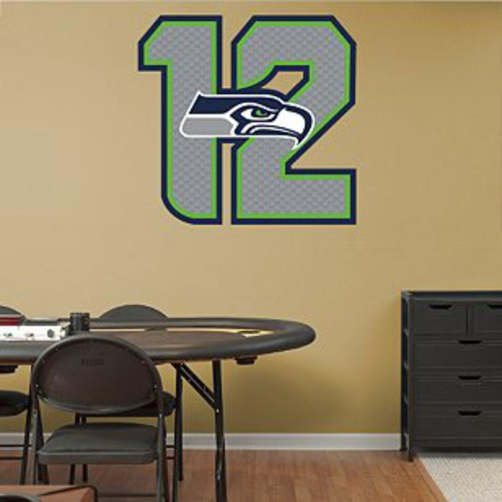Seattle Seahawks Logo 12 - Peel and Stick Wall Art
