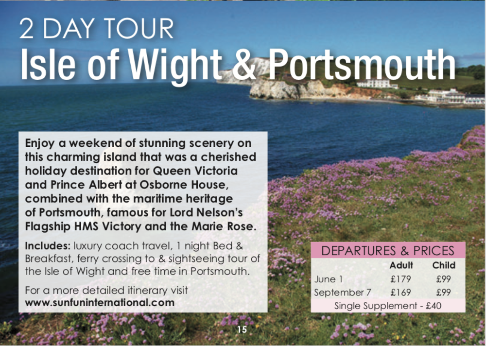 Isle of Wight & Portsmouth (2 Day)