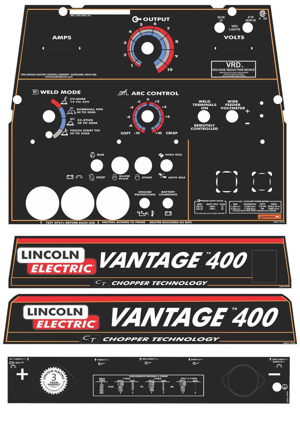 Lincoln Welder Stickers Satu Sticker Vantage 400 Wiring Diagram Control Plates Decals Miller Welders