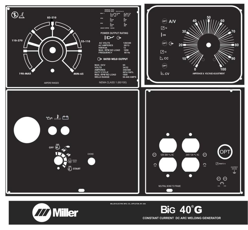 Miller Welder BIG 40 Gas, 3-Pcs