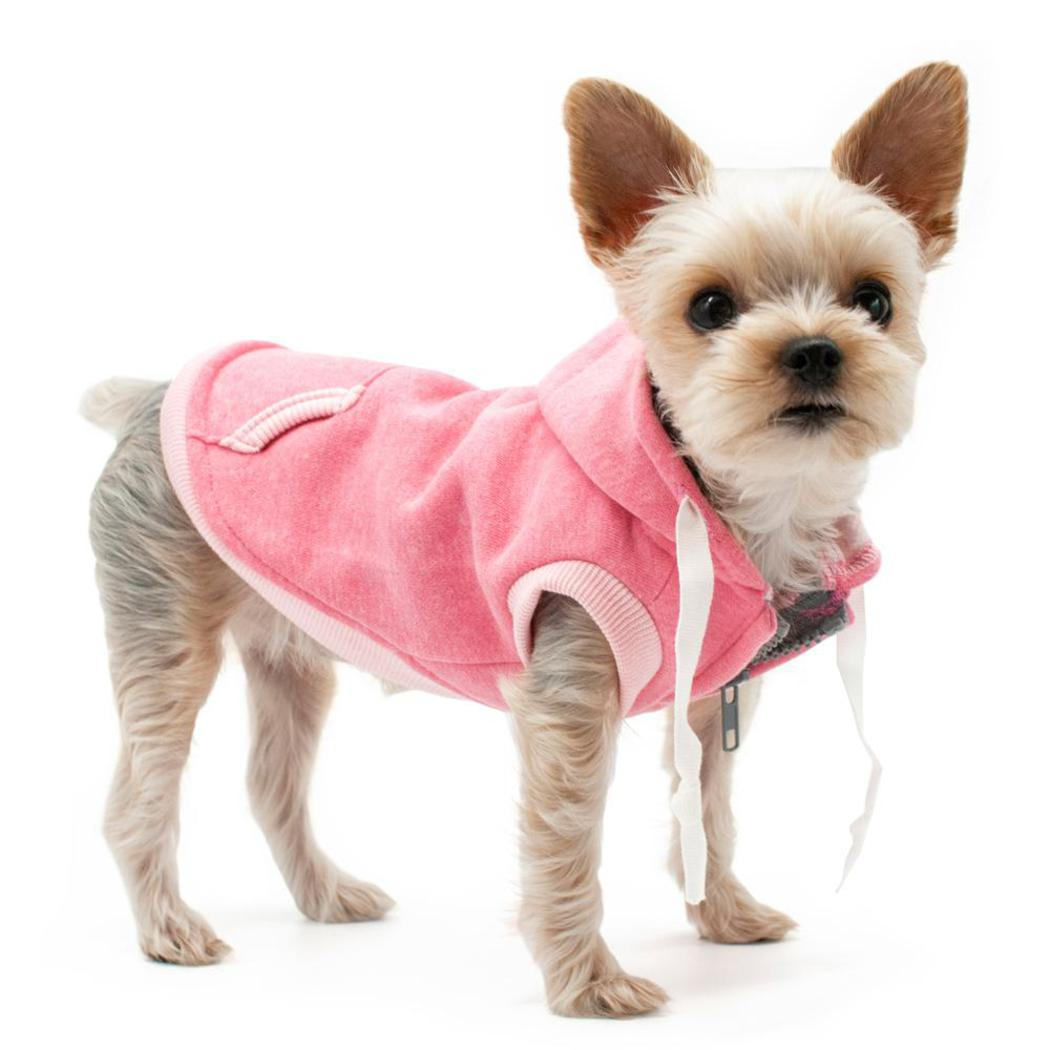 Dogo Pet Pink Drawstring Dog Hoody