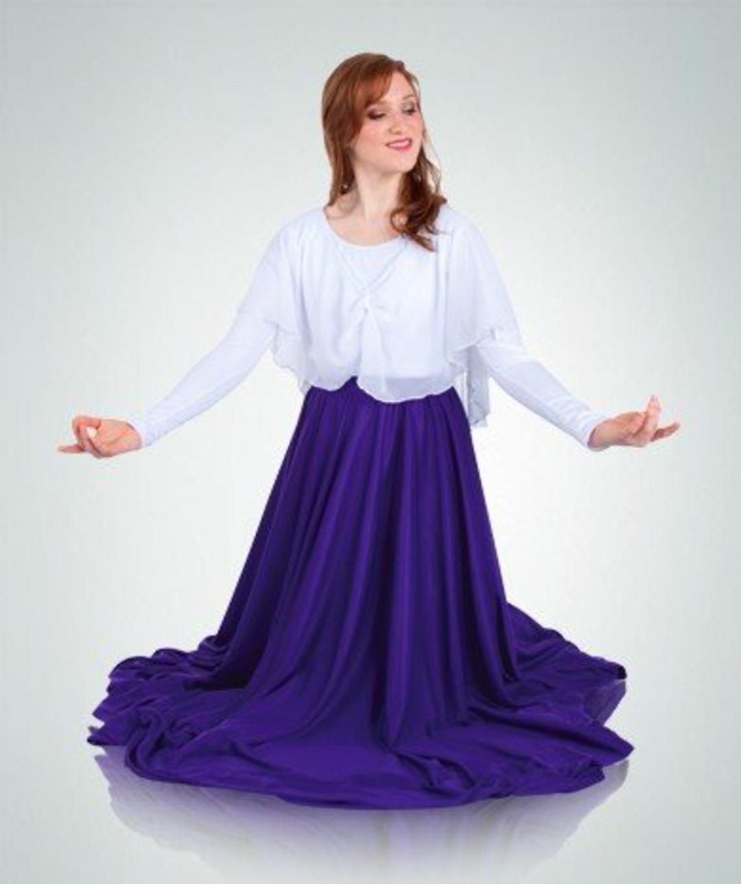 NWT Praisewear Liturgical LongSleeve double skirt floor length dress Plum red