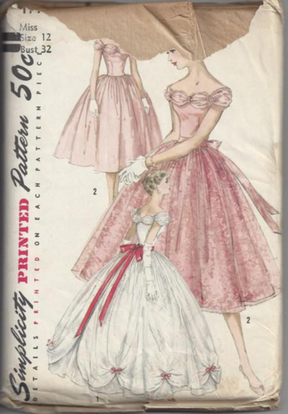 MOMSPatterns Vintage Sewing Patterns - Simplicity 1770 Vintage 50\'s ...