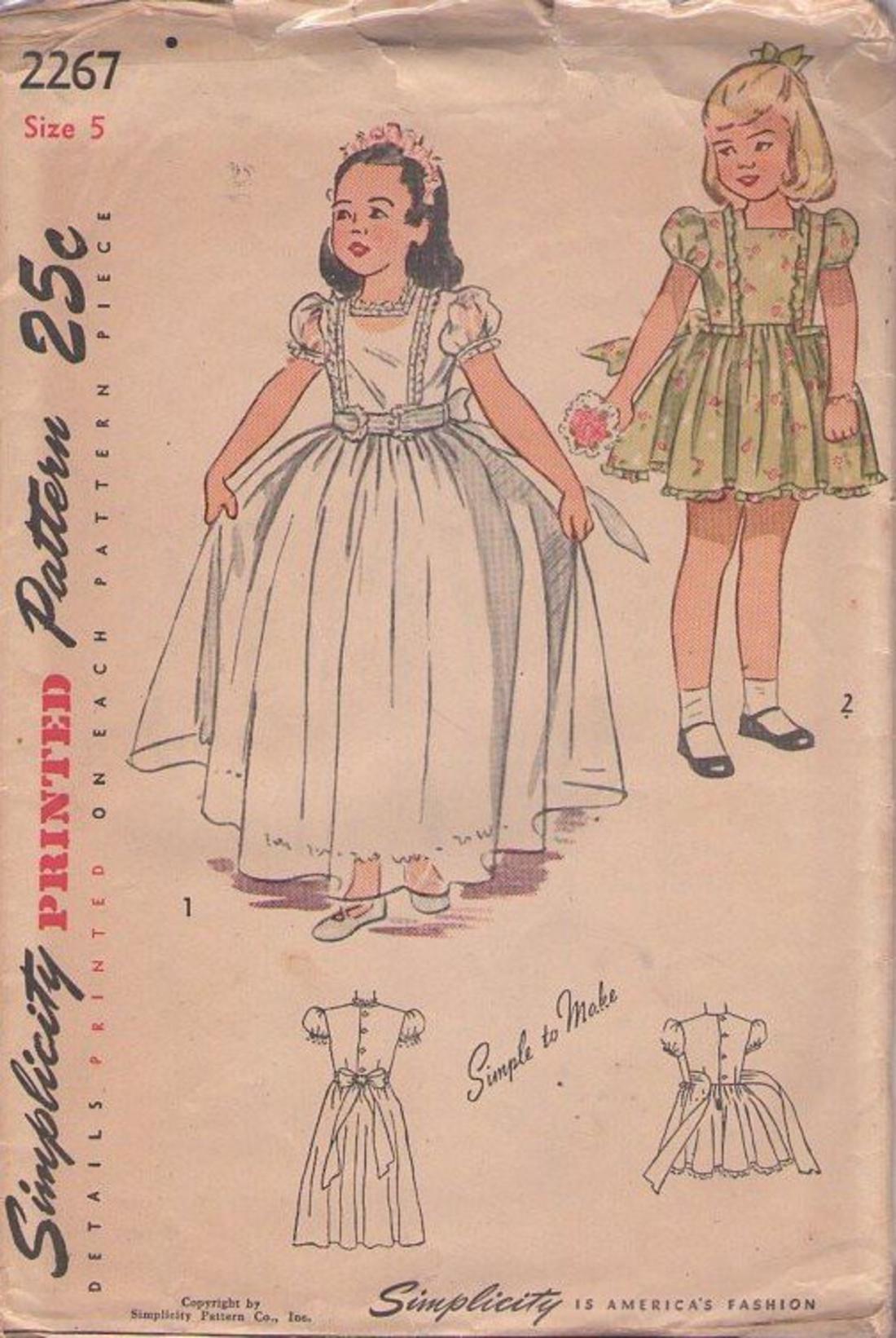 MOMSPatterns Vintage Sewing Patterns - Simplicity 2267 Vintage 40\'s ...