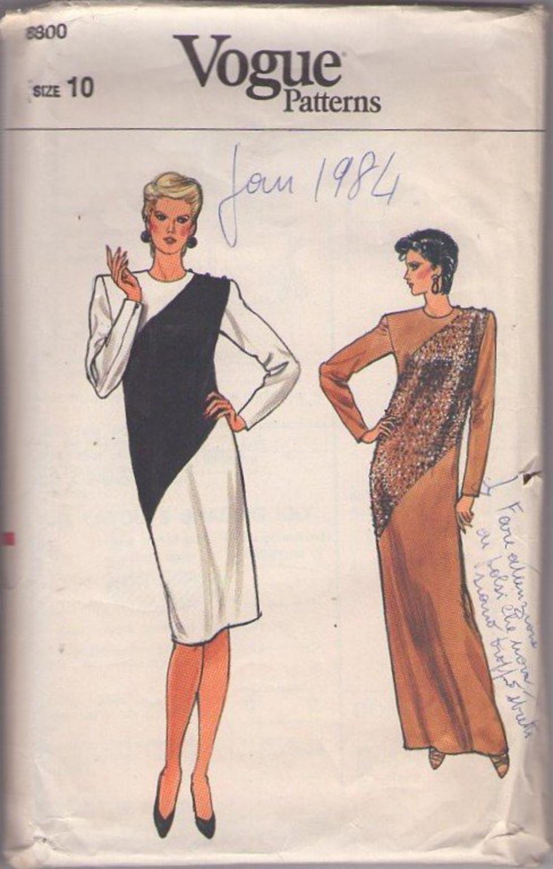 MOMSPatterns Vintage Sewing Patterns - Vogue 8800 Vintage 80\'s ...