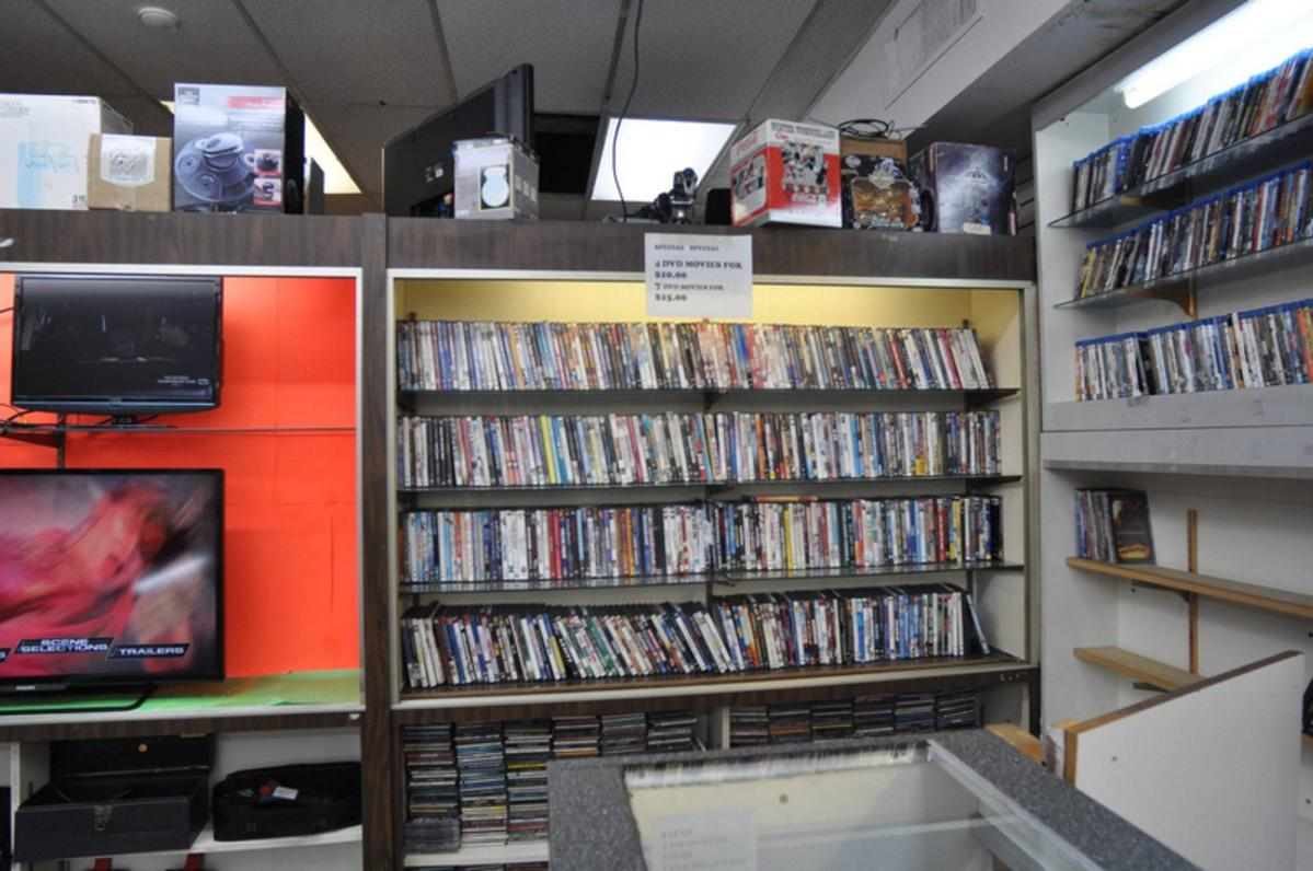 DVD selection at Philadelphia Pawnshop
