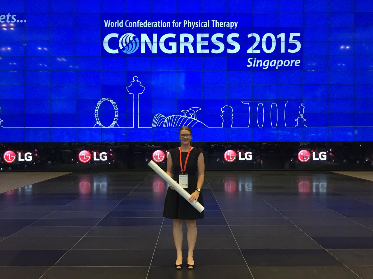Erin attends International Physio Conference
