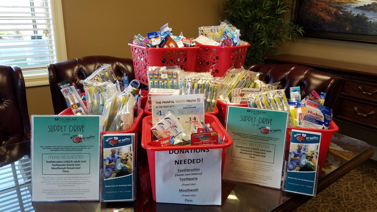 Supply Drive at Platte Valley Bank