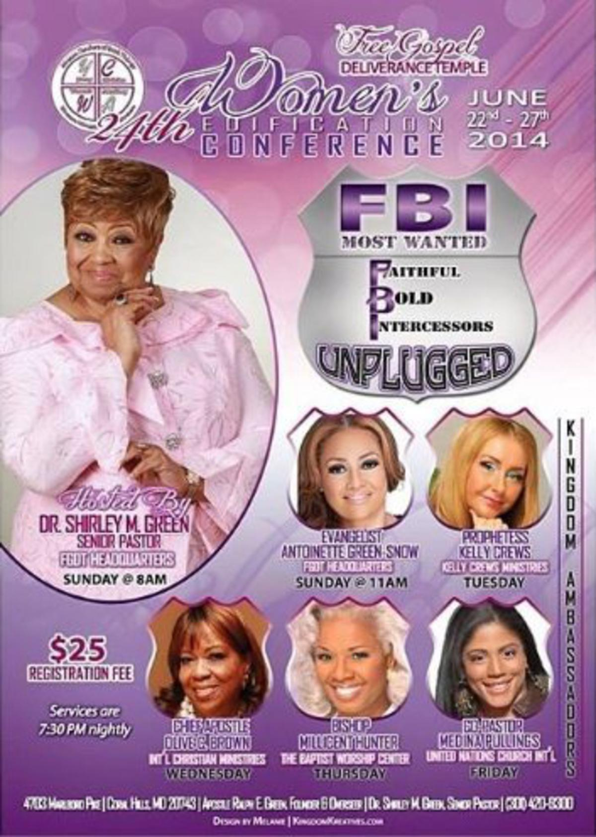 Chief Apostle Olive Brown is speaking in Maryland!