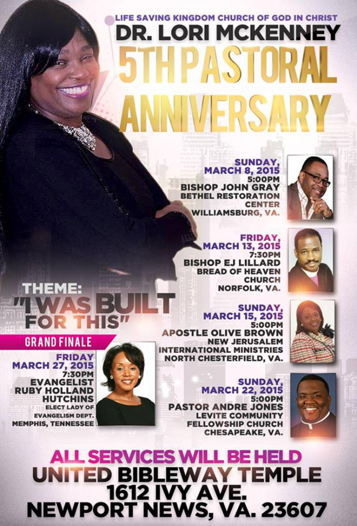 Chief Apostle Olive Brown is speaking in Tidewater!
