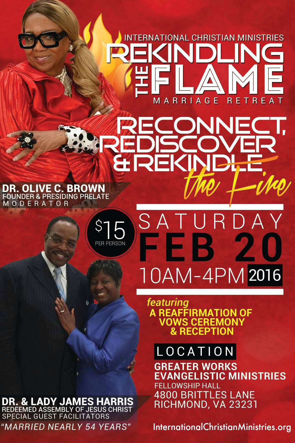 ICM Rekindling the Flame Marriage Retreat