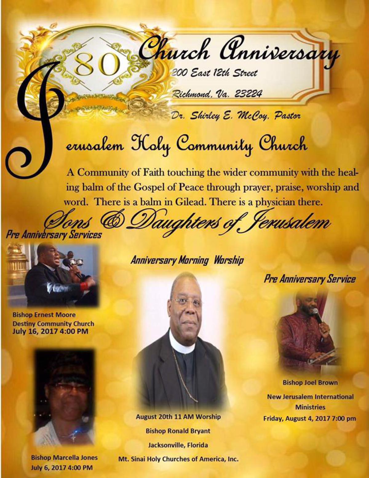 August 4th - Bishop Joel Brown - Speaker