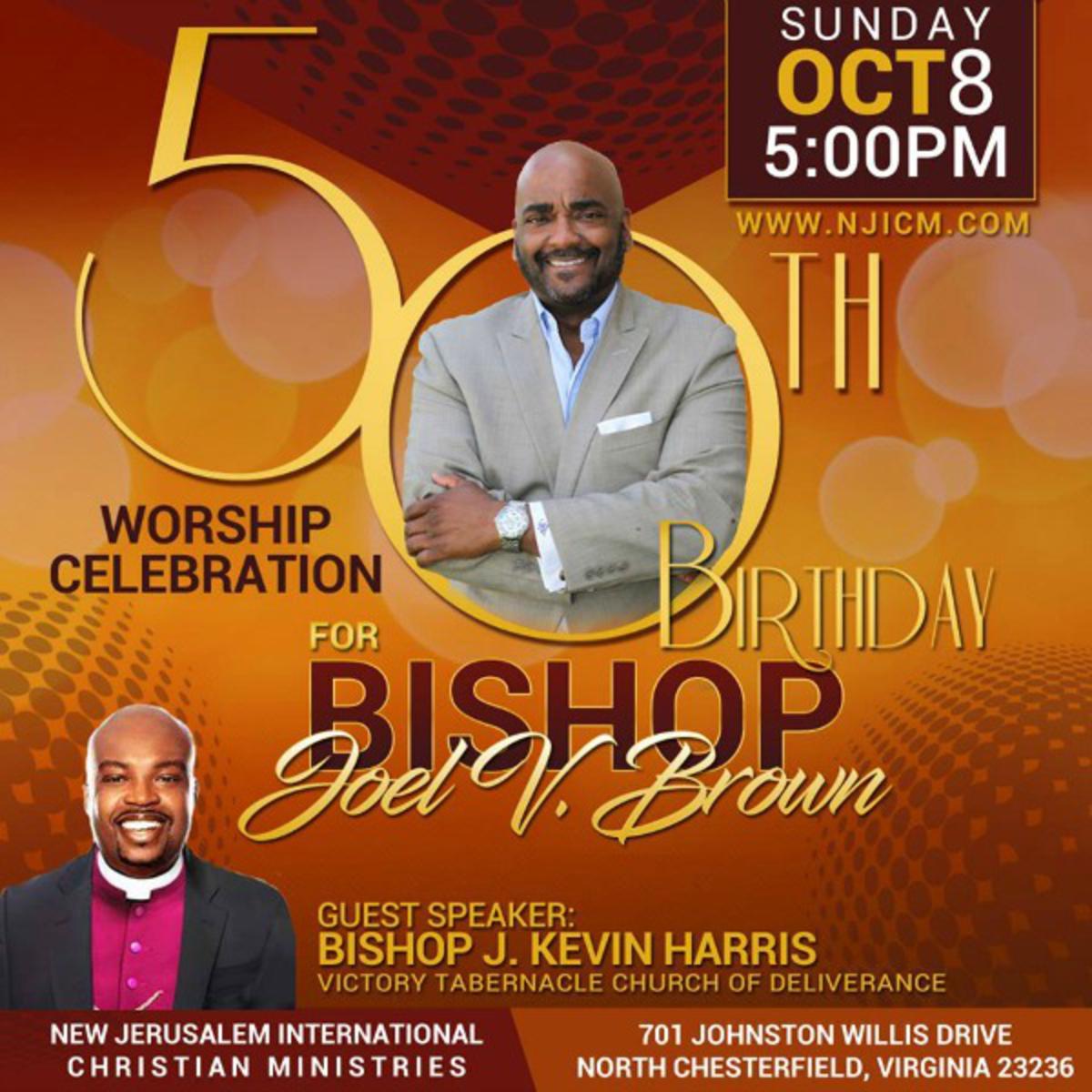 Celebrate Bishop Joel Brown's Birthday