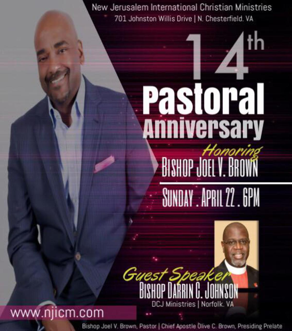 Celebrate Bishop Joel Brown's Anniversary!